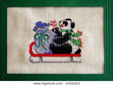 Cross Stitch Christmas Card