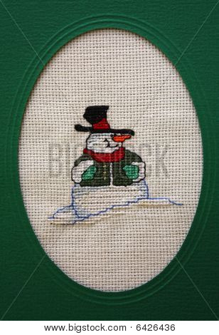 Cross Stitch Christmas Card