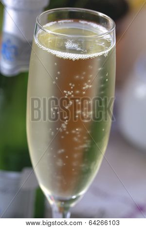 Misted Glass Of Champagne