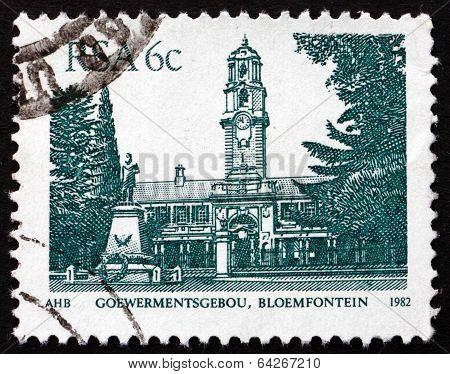 Postage Stamp South Africa 1982 Goewermentsgebou, Bloemfontein