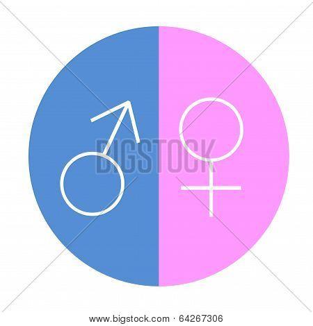Male female equality circle