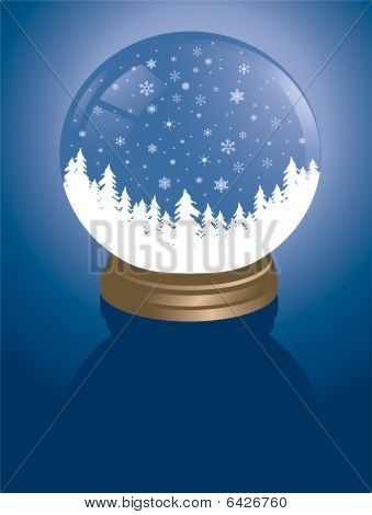 snowglobe with forest