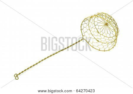 Gold Colander Isolated