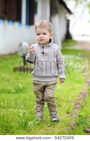 Trendy 2 Years Old Baby Boy Posing