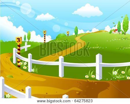 vector background countryside illustration