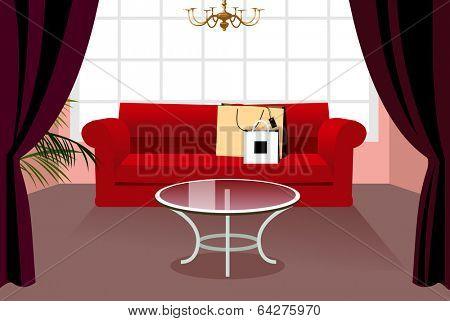 vector interior illustration background