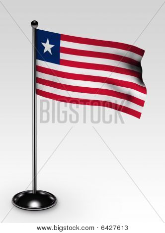 Small Liberia Flag Clipping Path
