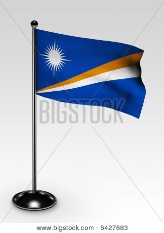 Small Marshall Islands Flag Clipping Path