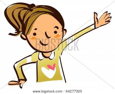 girl hands up