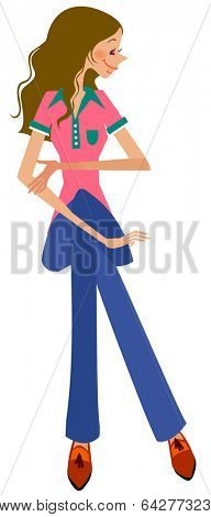 girl crossleg