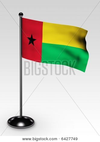 Small Guinea-bissau Flag Clipping Path