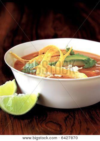 healthy mexican tortilla soup