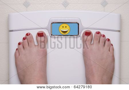 Scale With Feet Happy Face