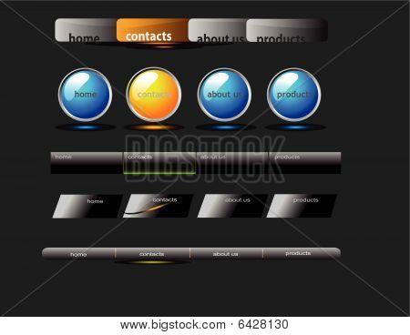 vector menu bars