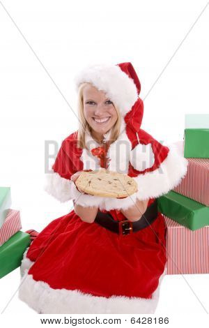Santa Helper With Cookie Presents
