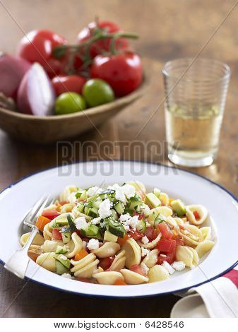 Pasta With Uncooked Gazpacho Sauce