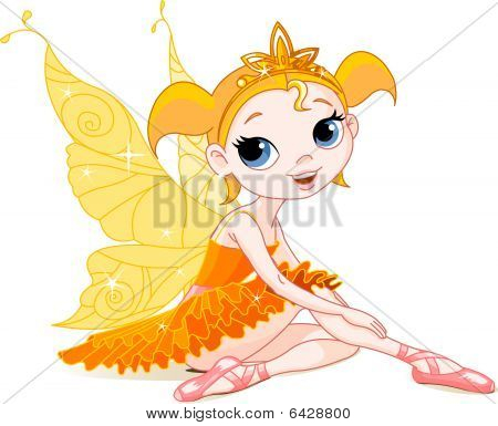 Little Ballerina orange fairy