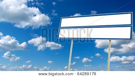 Billboard On The Sky Background