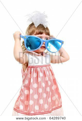 Little Girl With Big Blue Glasses