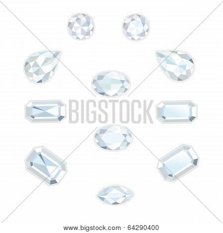 Diamond Set Isolated Objects