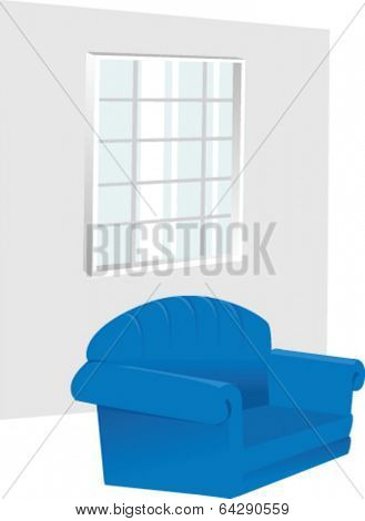 window and armchair in room