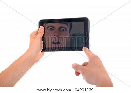 Reflection In Tablet Computer