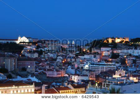 Beautiful Nightscene In Lisbon, Portugal