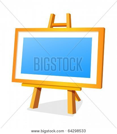 vector icon easel