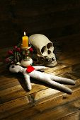 picture of voodoo  - Conceptual photo of love magic - JPG