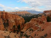 stock photo of hoodoo  - Hoodoos in Bryce Canyon National Park - JPG