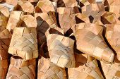 pic of baste  - Russian National wicker shoes of birch bark  - JPG