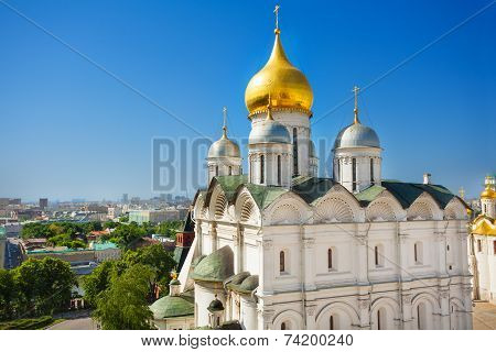 Cupola view of Patriarch's Palace, Moscow Kremlin