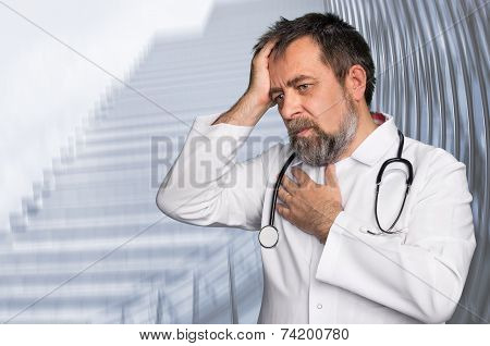 Thoughtful Doctor