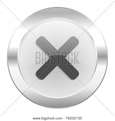 cancel chrome web icon isolated