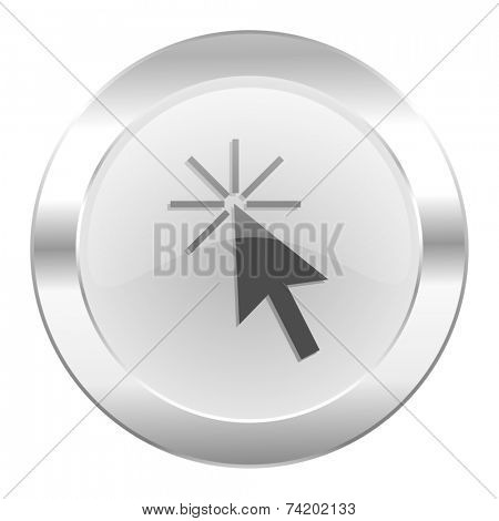 click here chrome web icon isolated