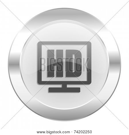 hd display chrome web icon isolated