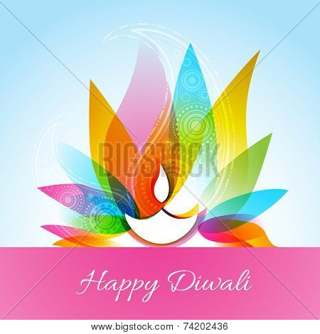 Vector colorful diwali diya background