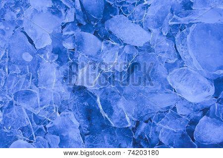 Blue ice sheet.