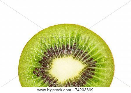 Kiwi Fruit Inside With Seeds
