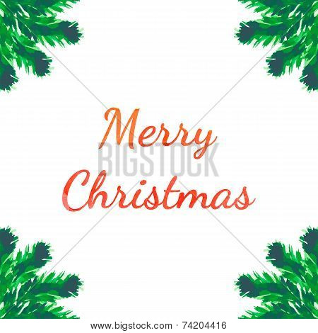 Christmas tree brunches greeting card