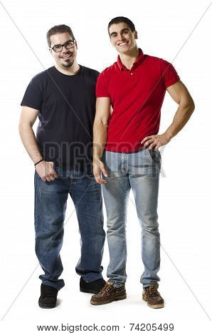 Two Isolated Different Friends On White