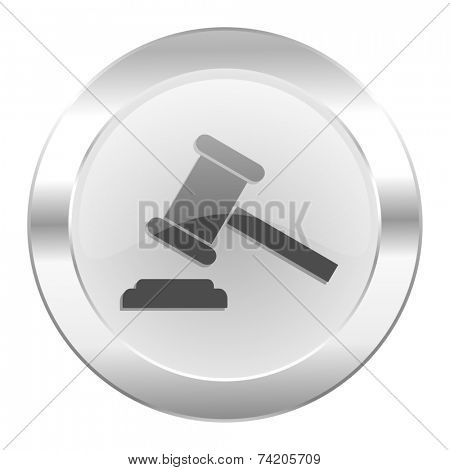 auction chrome web icon isolated