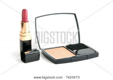 Facepowder And Lipstick