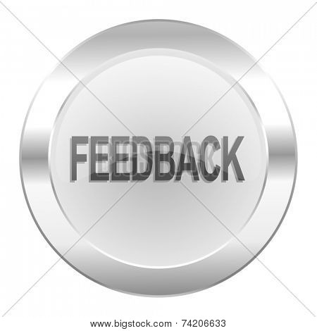 feedback chrome web icon isolated
