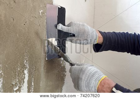 Process Putty Concrete Wall