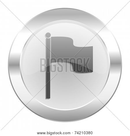 flag chrome web icon isolated
