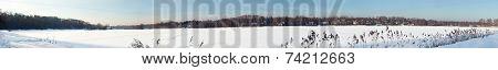 winter lake panoramic