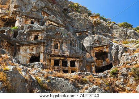 Ancient town in Myra, Turkey - archeology background