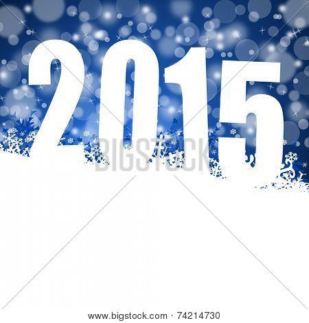 2015 new years illustration with snowflakes