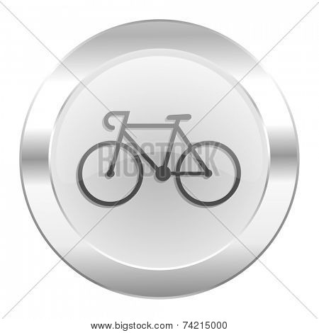 bicycle chrome web icon isolated